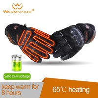 Warmspace Motorcycle Riding Electric Heated Smart Gloves Touch Screen Outdoor Skiing Riding Thick Section Warm Gloves Gloves     -