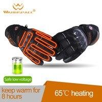 Warmspace motocicleta equitação elétrica aquecida luvas inteligentes tela de toque ao ar livre esqui equitação seção grossa luvas quentes