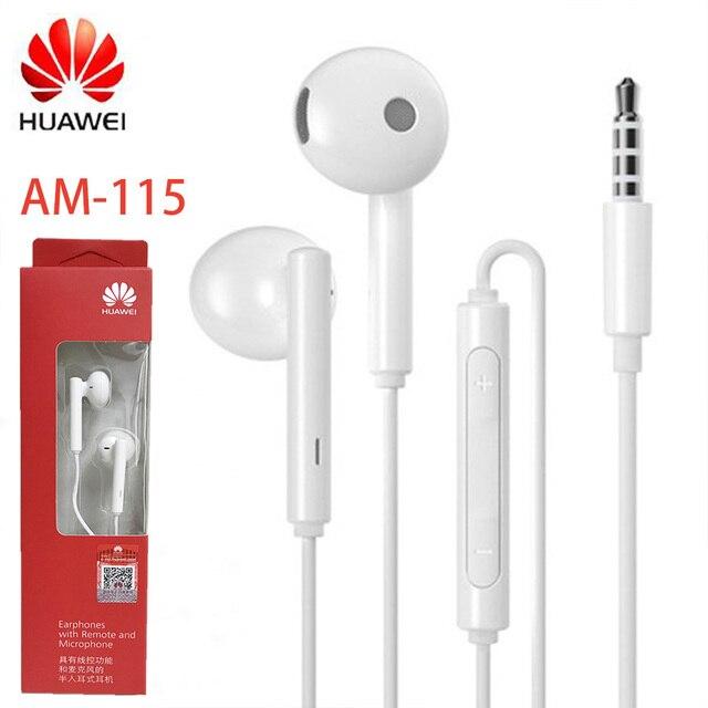מקורי Huawei אוזניות HUAWEI AM115 אוזניות מיקרופון 3.5mm עבור HUAWEI P7 P8 P9 לייט P10 בתוספת כבוד 5X 6X mate 7 8 9 smartphone
