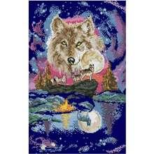 Набор для вышивки «волк» 11ct 14ct
