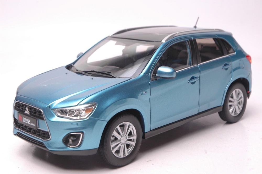 1:18 Diecast Model For Mitsubishi Pajero ASX 2015 Blue SUV Alloy Toy Car Miniature Collection Gifts Gran