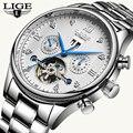 LIGE2019 классические мужские часы лучший бренд класса люкс бизнес автоматические часы Tourbillon водонепроницаемые механические часы Relogio Masculino
