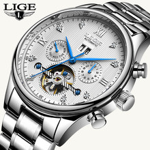 LIGE2019 Classic Mens Watches Top Brand Luxury Business Automatic Clock Tourbillon Waterproof Mechanical Watch Relogio Masculino(China)
