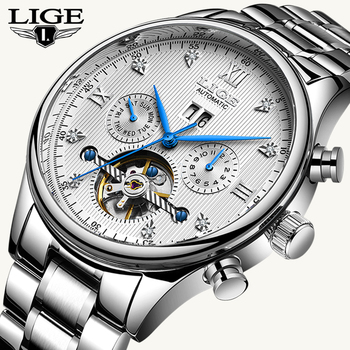 LIGE2020 Classic Mens Watches Top Brand Luxury Business Automatic Clock Tourbillon Waterproof Mechanical Watch Relogio Masculino - discount item  90% OFF Men's Watches