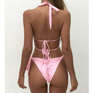 Image 5 - 2020 Sexy Diamond Bikini Swimwear Women Two Piece Swimsuit Cross Bikini Set Bandage Bathing Suit Summer Beach Wear Swimming Suit