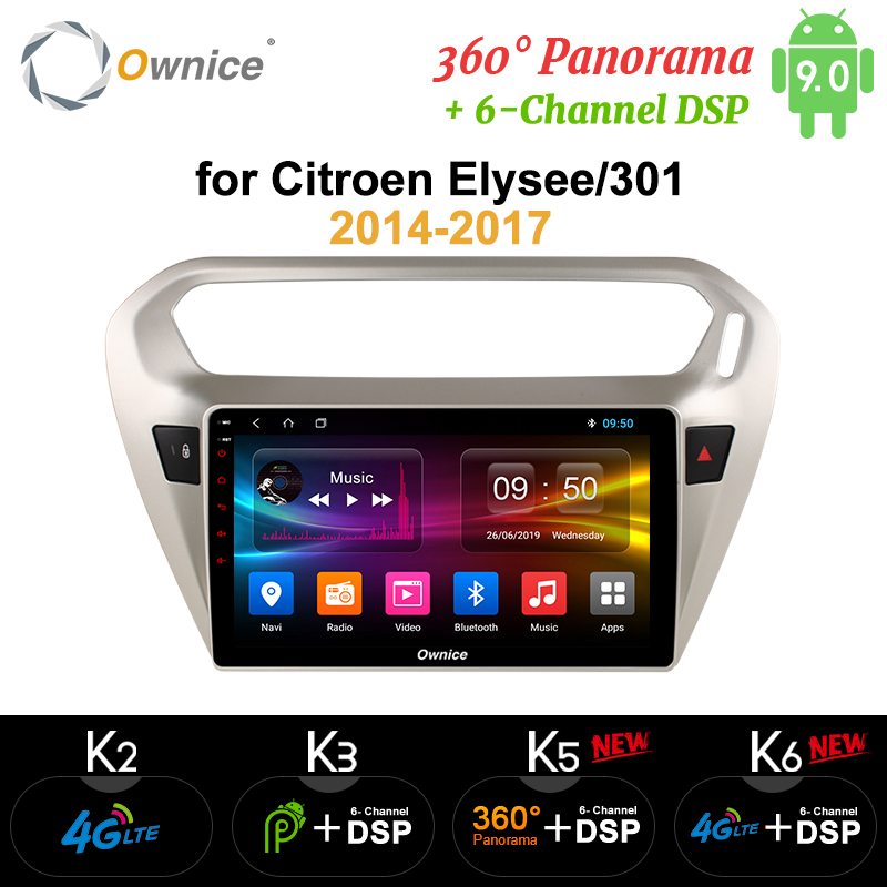 Ownice Android 9.0 Eight core Car radio Player gps navi k3 k5 k6 for <font><b>Peugeot</b></font> <font><b>301</b></font> Citroen Elysee 2014 2015 2016 DSP 4G LTE SPDIF image