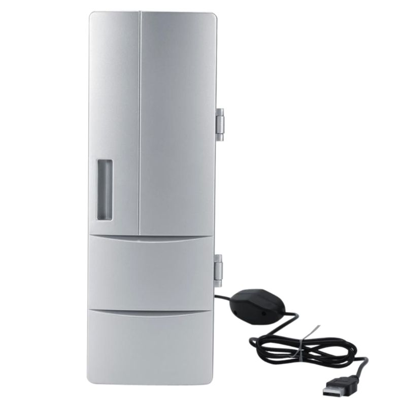 Portable Mini Laptop Fridge PC Refrigerator Beverage Drink Medicine Cold & Warm Box Beer Cooler 10166
