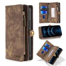 Cartera bolso de cuero caso de teléfono para Samsung Galaxy M31 A20E A21S A40 A50 A51 A70 A71 S8 S9 S10 S20 S21 más Note20 Ultra S20FE