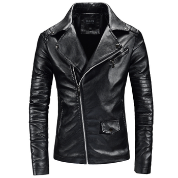 Chaqueta de moda para hombre, chaqueta informal de cuero, chaqueta masculina, Abrigos,...