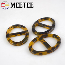 Meetee 4/10pcs 27mm Oval Ring Resin Scarf Buckle Garment Underwear Belt Decorative Buckles Buttons DIY Sewing Accessories BD276
