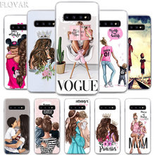 baby Mom and Queen black girl Phone Case for Samsung Galaxy S10e S10 Plus S7 S8 S9 Note 8 9 M10 M20 M30 Hard Coque