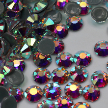 AAAA High Quality Flatback Crystal Ab Rhinestone SS6-SS50 Stones And Crystals Strass Clothes Sewing Accessories
