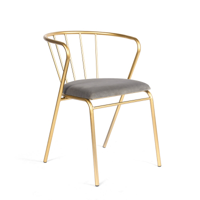 Nordic ins style chair dessert tea shop leisure chair nail makeup chair net red dressing stool bedroom back