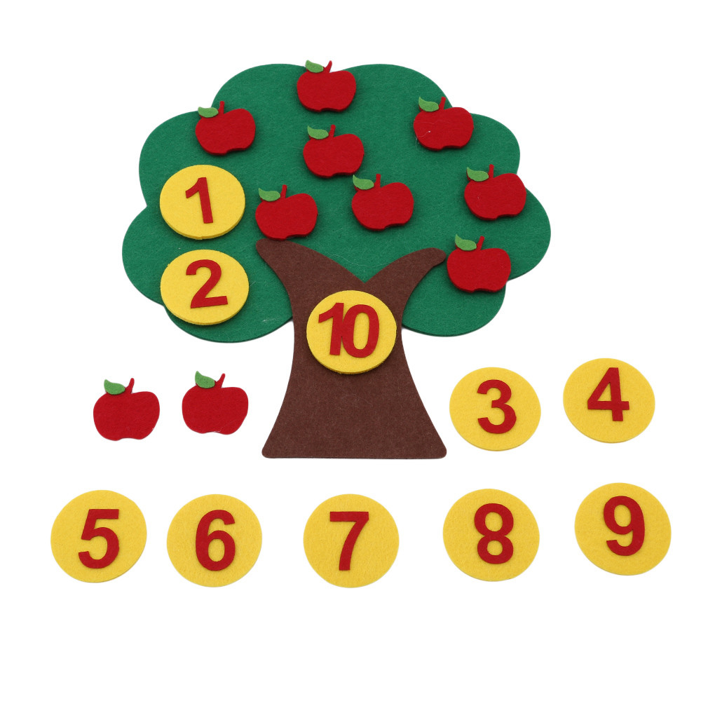 Montessori Teaching Aids Apple Trees Math Toys Teaching Kindergarten Manual Diy Weave Cloth Early Learning Education Toys