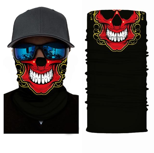 Fashion Motorcycle Face Mask Moto Balaclava Skull Mask Motor Scarf Halloween Panuelos Para Moto Face Shield Neck Warmer Headwear 4