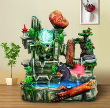 Большой камень фэншуй поворачивает водные поделки из резины аранжировки для пожилых людей фестиваль подарки домашняя фабрика прямые продажи Colou