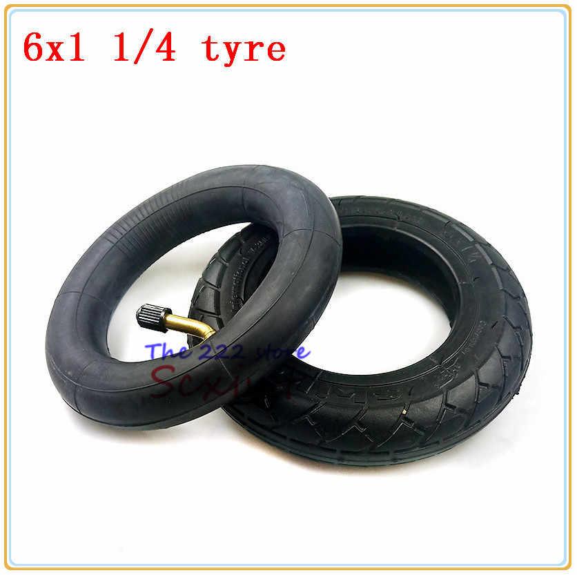 6*1,25 tubo interior del neumático 6x1 1/4 neumático de la rueda de inflado para Scooter Eléctrico bicicleta eléctrica 6 pulgadas 150MM neumático interno del scooter