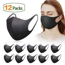 D reutilizável colorido tecido rosto turbante elegante moda neutro máscara lavável manter quente e à prova de vento mascarilla