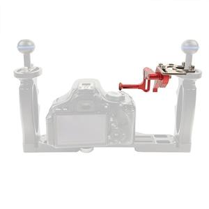 Image 5 - Adjustable Shutter Trigger Extension Rod Mount Adapter for DSLR SLR Diving Camera Underwater Waterproof Housing Case Accessories