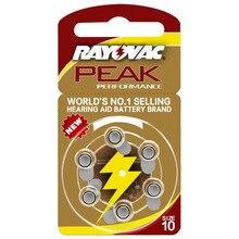 Hearing Aid Batteries 6 PCS / 1 card RAYOVAC PEAK-A10/PR70/10 Zinc Air batterie 1.45V Size Diameter 5.8mm Thickness 3.6mm
