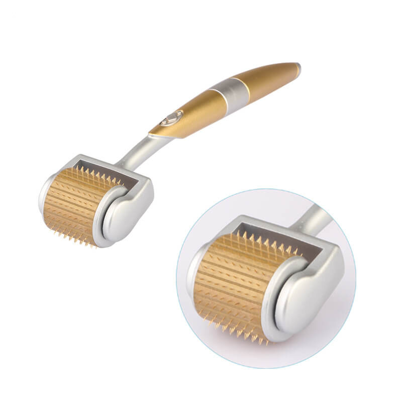 Microneedle Roller For Skin Care Cosmetic Body Hair Loss Treatment Titanium Microniddle Roller For Face