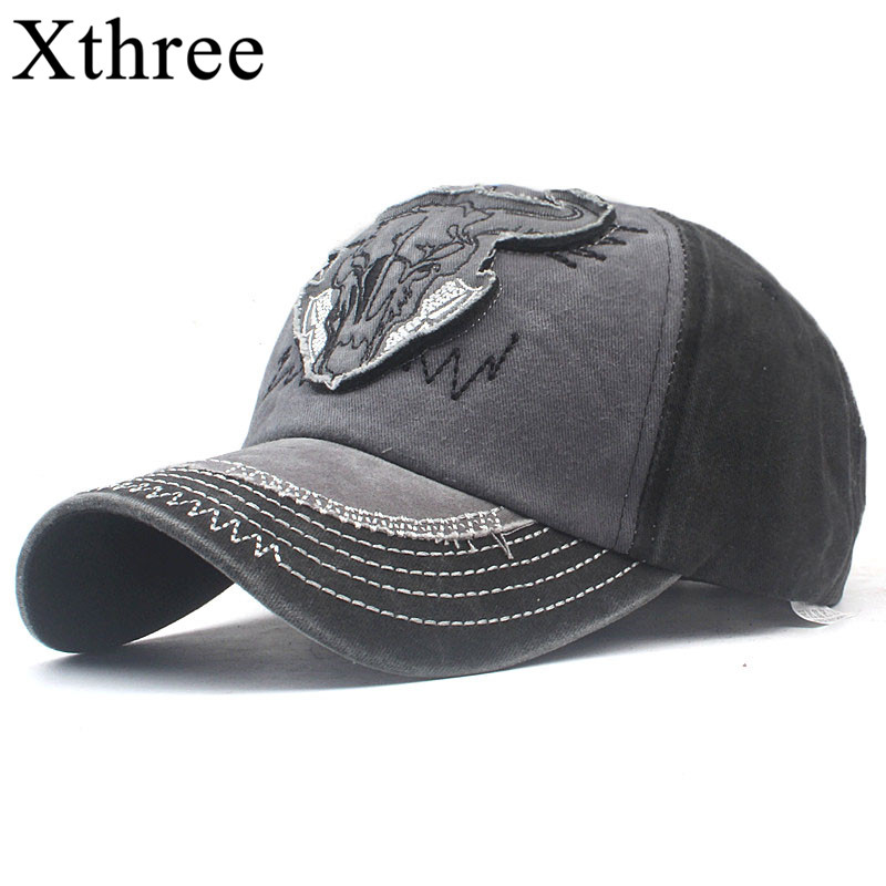 Xthree  Cotton Men's Cap Baseball Snapback Hat Embroidery Bone Cap Gorras Casual Casquette Baseball Hat For Men