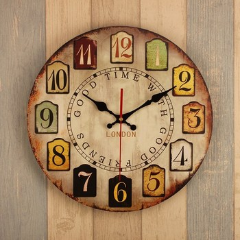 Decorative Vintage Wood Wall Clock Bedroom Analog Modern Design Wall Clocks Decorative Living Room home decoration 2020 II50BGZ