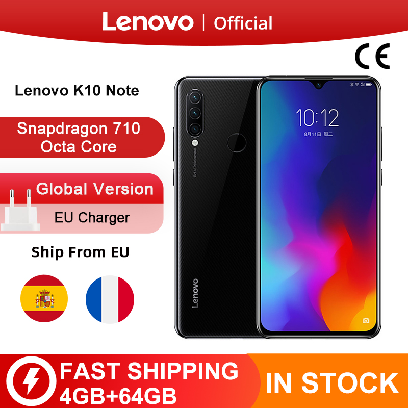 Global Version Lenovo K10 Note (Z6 Lite) 64GB 128GB Snapdragon 710 Octa Core Triple Back Cams 6.3 Inch Water Drop 4050mAh|Cellphones| - AliExpress