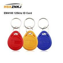 5/10шт карточки em4100 125 кГц ID карты наклейки ключ брелок RFID-меток маркерное кольцо близость тегов Теги чип брелок