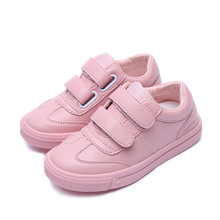 2019 New Fashion Baby Girls Soft Leather Shoes Children Mesh Sport Sneakers Kids Casual Shoes Boys Trainers Brand White Sneakers spring new kids pu leather shoes baby girls sport sneakers children mesh shoes boys fashion casual shoes soft brand trainer 2019