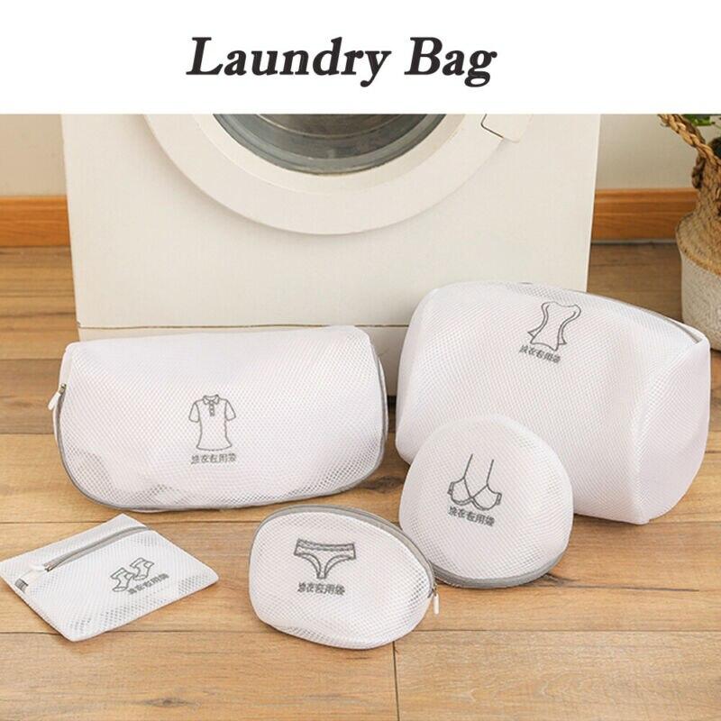 Laundry Bag Pop Up Mesh Washing Foldable Laundry Basket Bag Bin Hamper Storage