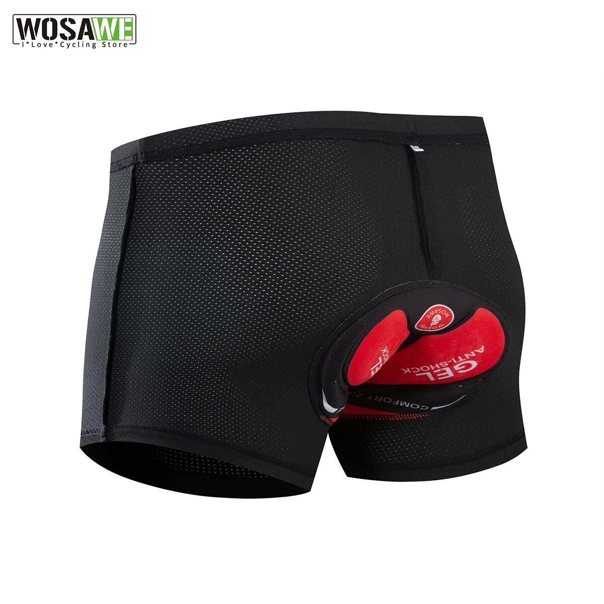 WOSAWE Mens Gel Pad Cycling Shorts MTB Bike Pants Bicycle Clothing Tights Summer