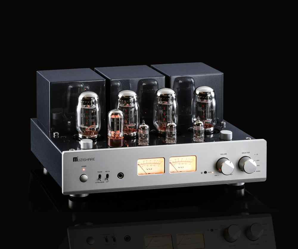 MUZISHARE X7 KT88 X4 Push-Pull Hi-fi Tabung Vakum Integrated Amplifier Power Amplifier dengan Remote Control