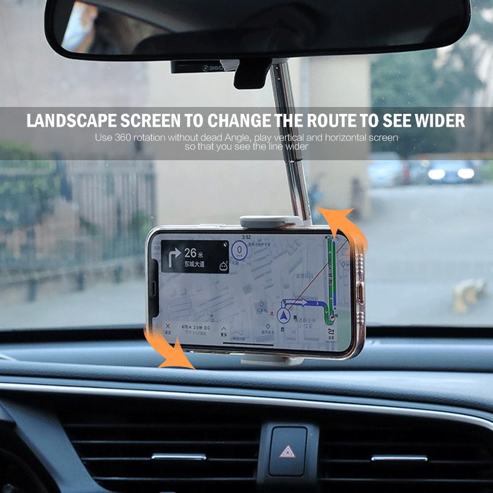 Universal Rearview Mirror Phone Holder