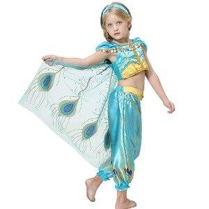 Image 5 - 2019 delle ragazze Della Principessa Jasmine Cosutmes Del Capo Bambini Vestito Da Ballo di Pancia Dei Bambini Indiani Costume di Halloween Di Natale Del Partito di Cosplay 2  10