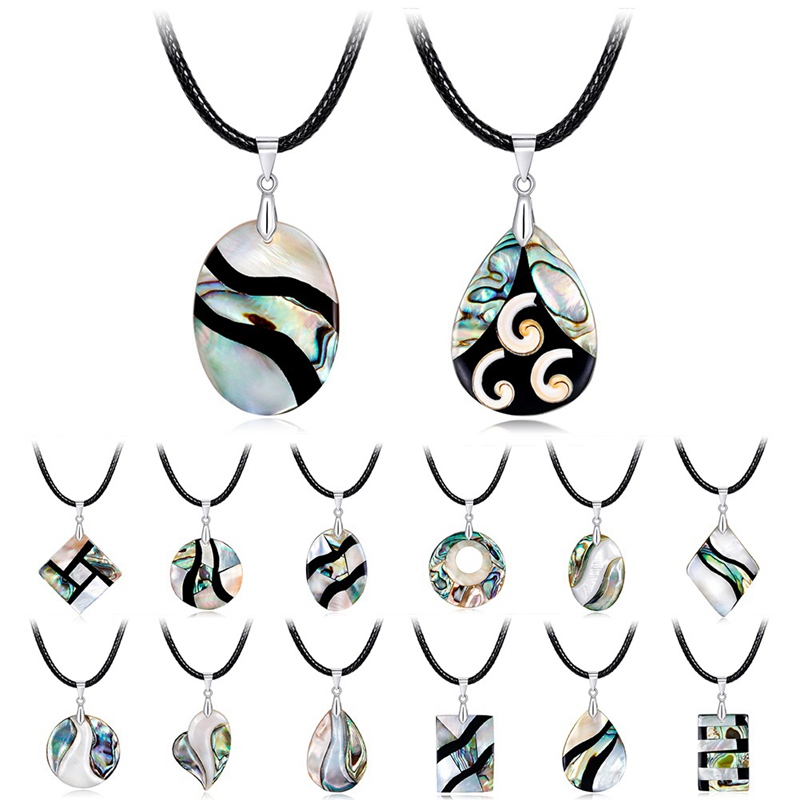 New Zealand Natural Abalone Shell Statement Choker Necklace for Women Charms Pendants Gift Maxi Collar Fashion Jewelry
