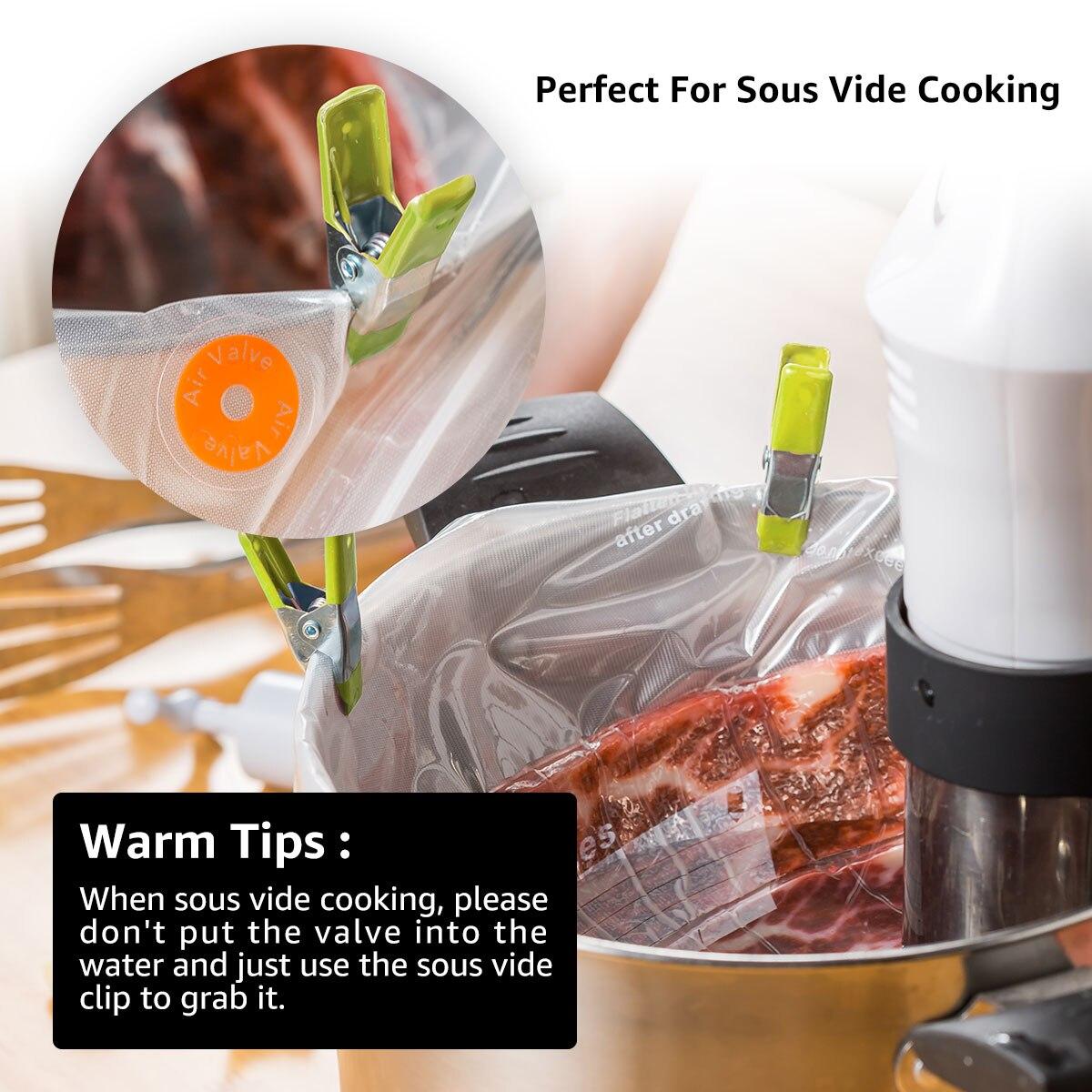 Bolsa de vacío de cocina para alimentos con bomba Bolsas de sellado - Organización y almacenamiento en la casa - foto 5