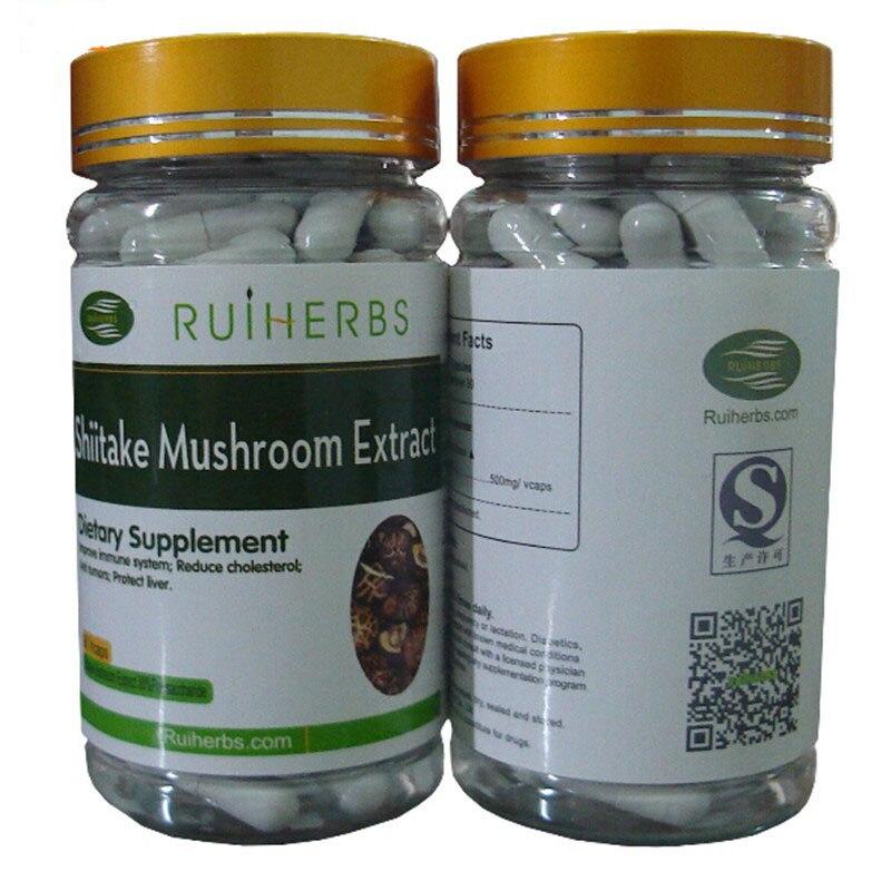 6Bottles Shiitake Mushroom Extract 30% Polysaccharides Caps(500mg x540pcs) Lentinus Edodes Extract free shipping