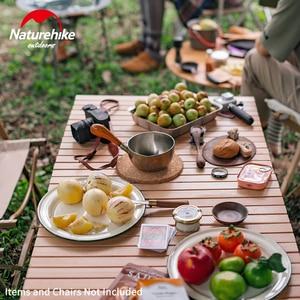 Image 5 - Naturehike Camping Tafel Vouwen Ei Roll Houten Tafel 30Kg Lager Driehoek Stabiele Tuin Reizen Wandelen Bbq Accessoires