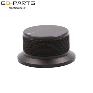 Image 2 - 50x25mm Machined Solid Full Aluminum Volume POTENTIOMETER KNOB Sound Control Cap 6mm Hole Audio DIY Black Silver Golden 1PC