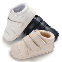 Новый Демисезонный для маленьких мальчиков дышащий анти-скольжения PU обувь повседневные кроссовки для малышей, обувь с мягкой подошвой