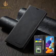 Custodia a portafoglio Business per Samsung A7 A8 2018 S7 S8 S9 Plus S10E S20 FE S21 Ultra Note 9 10 Slot per schede magnetiche in pelle Flip Cover