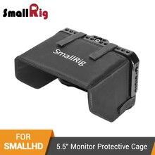 """Jaula de Monitor pequeño con capucha para foco pequeño HD serie OLED 5,5 """"Monitor de jaula protectora + Kit de capucha de protección solar  2405"""