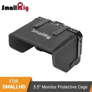"""Image 1 - SmallRig Monitör Kafesi Güneşlik için SmallHD ODAK OLED Serisi 5.5 """"Monitör Koruyucu Kafes + Güneş Kalkanı Hood Kiti  2405"""