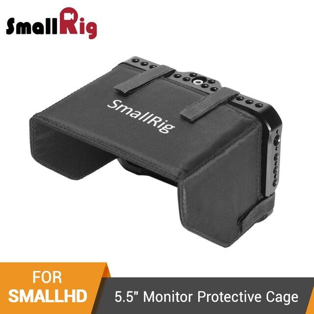 """SmallRig Monitör Kafesi Güneşlik için SmallHD ODAK OLED Serisi 5.5 """"Monitör Koruyucu Kafes + Güneş Kalkanı Hood Kiti  2405"""