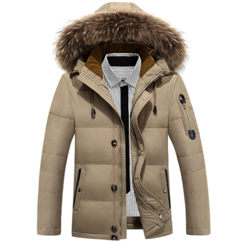 new Down Jackets Men Winter Jacket Men Fashion Thick Warm Parkas Fur White Duck Down Coats Casual Man Waterproof Down Jackets