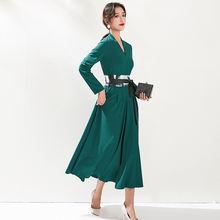 Женское платье с поясом новинка весны 2020 женское романтическое