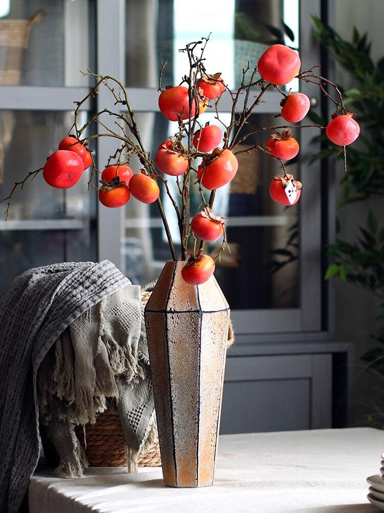 Геометрическая многоугольная стеклянная ваза, искусственный цветок, домашнее ремесло, фигурка, украшение для гостиной, настольный цветочн