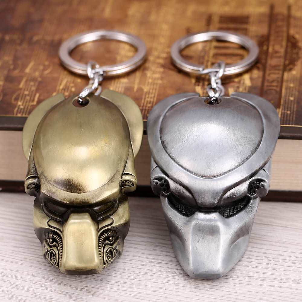 Anime Alien vs Predator <font><b>Avatar</b></font> <font><b>mask</b></font> Keychain Figure Model Toys image