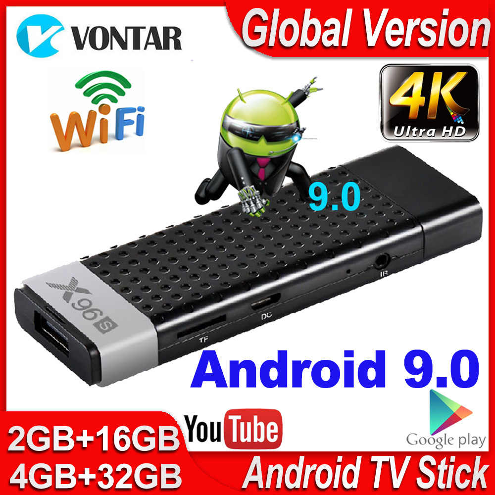 X96s Smart Tv Box Android 9.0 Tv Stick 4Gb Ram DDR3 Mini Tv Dongle Amlogic S905Y2 2.4G & 5G Wifi BT4.2 60fps 4K Tvbox Media Player